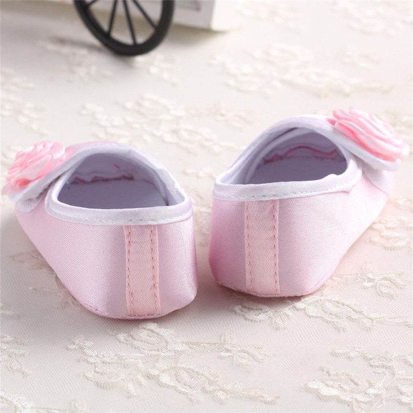 Baby Girls Shoes Fashion Newborn Infant Baby Girls Solid Flower Shoes Soft Sole Anti-slip Shoes Baby First Walker Shoes M8Y14 (9)