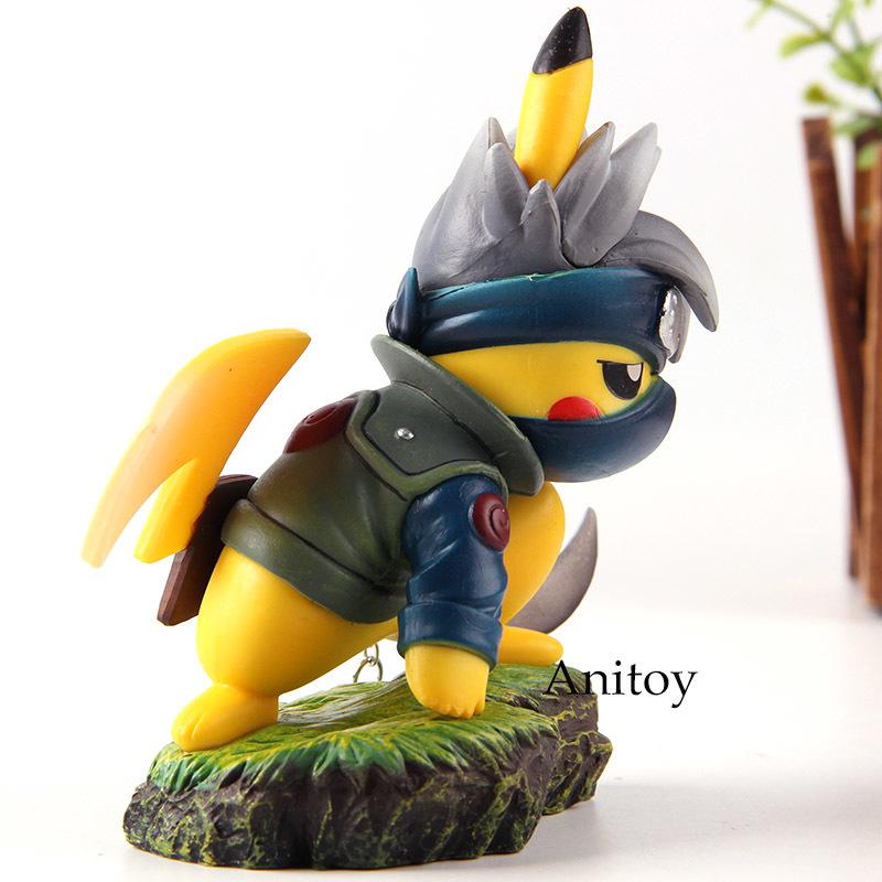 Action Figure Pikachu Cosplay Naruto Kakashi Hatake PVC Collection Model Toys Dolls Y190530