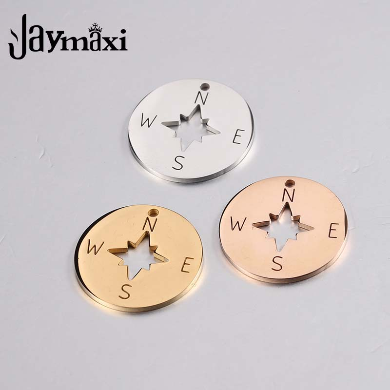 10pcs round Compass charm round star compass maritime protection pendant 20mm