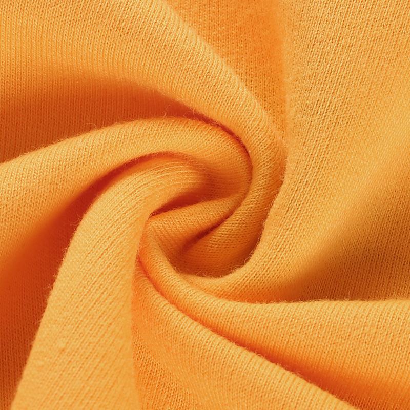 12Sweetown Plus Size Crop Top Long Sleeve Tshirt Women Orange Letter Printed Tee Shirt Femme Girl Power Woman T Shirt Hoodie Top