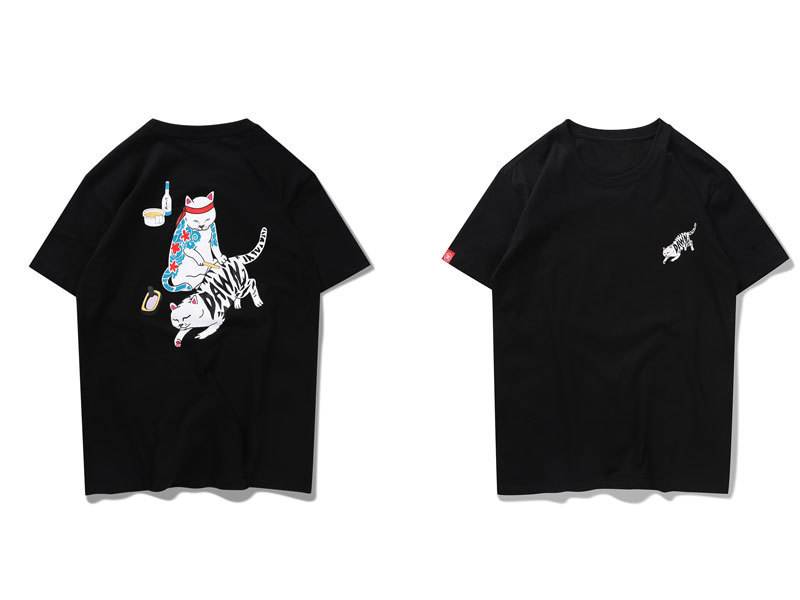 Japanese Ukiyo-E Tattoo Cat tshirts 1
