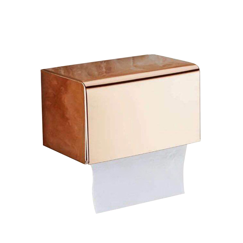 Boite Rangement Papier Wc 1pc toilettes en acier inoxydable papier papier hygiénique support de  rangement boîte porte-ongles sans mur étanche lavatory mont holder papier
