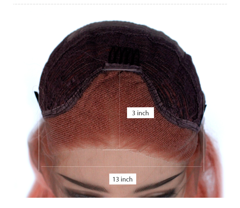 VNICE Heat Resistant Fiber Glueless Wig Natural Hairline Body Wave Hair Fully Wigs Rose Gold Mixed Pink Synthetic Lace Front Wig (8)