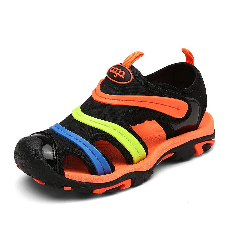 Enfants D'été Sandales Nouveau Designer Enfants Appartements Respirant Anti glissant Garçons Filles Fermé Toe Pantoufles Sandalias Mode Chaussures