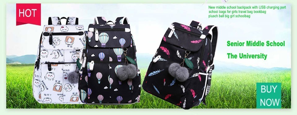 New Middle School Backpack With Usb Charging Port School Bags For Girls  Travel Bag Bookbag Plusch Ball Big Girl Schoolbag Y190530 Shop For  Backpacks