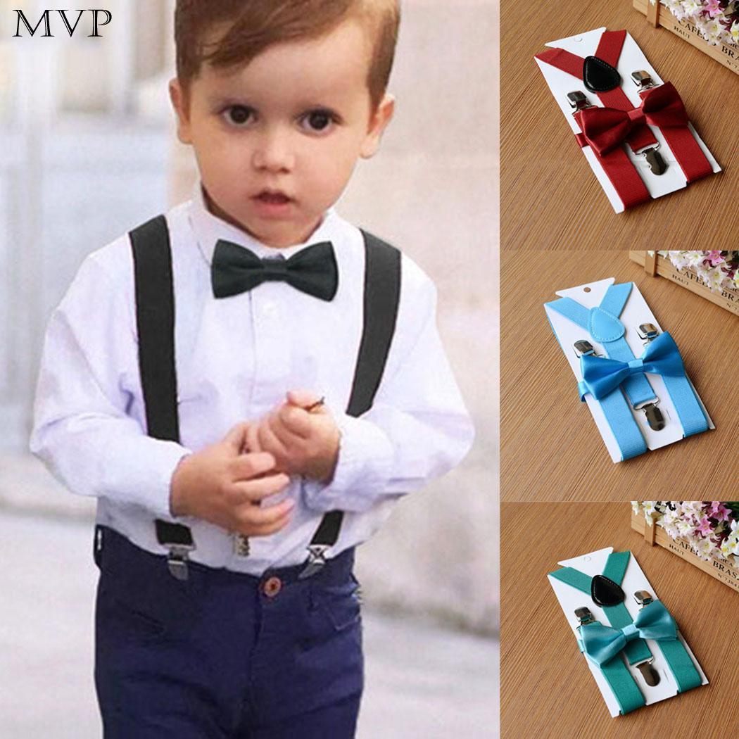 Suspender Bow Tie Matching Baby Toddler Kids Boys Girls Child Black Music Notes