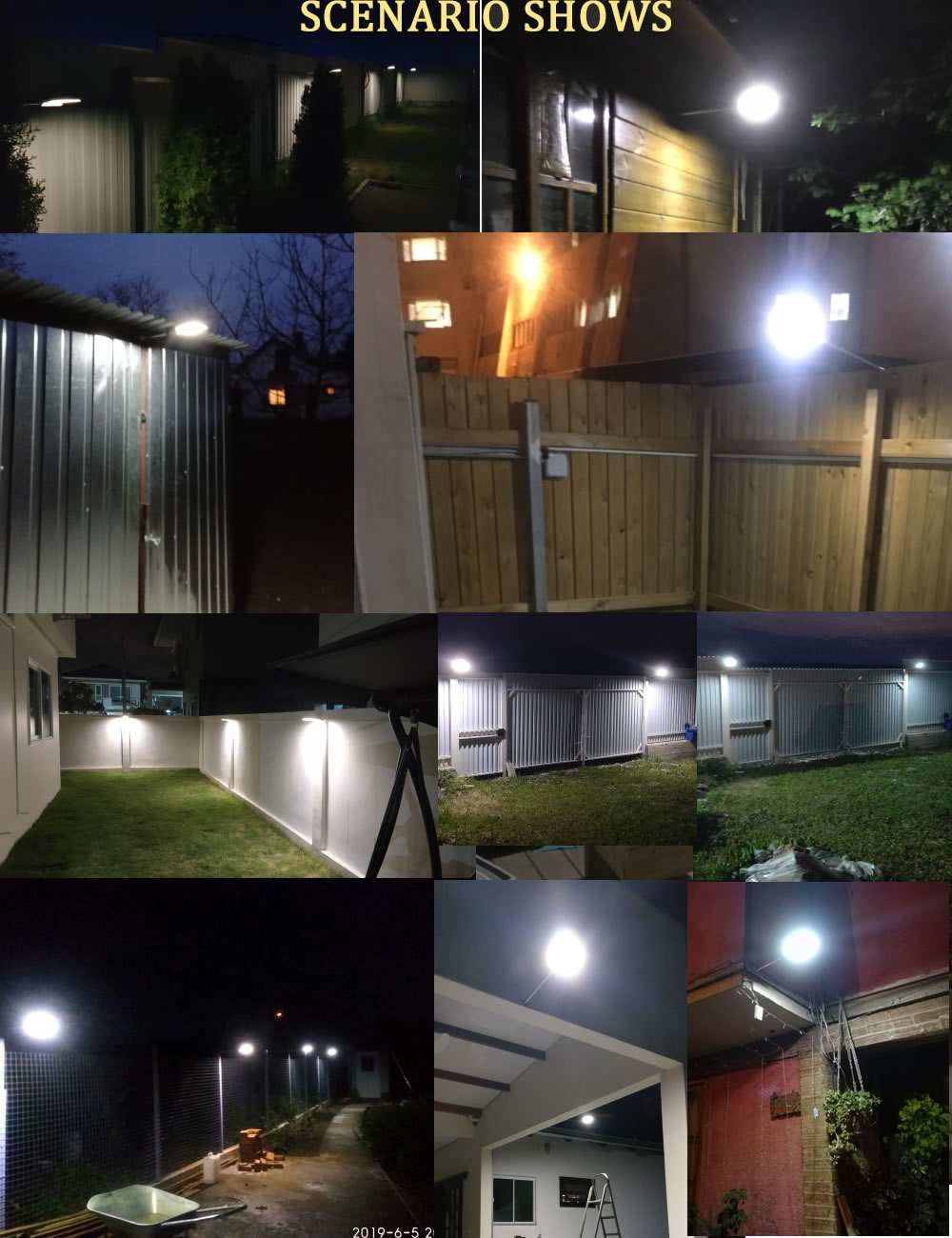 48/36 LED Solar Power 3 modes waterproof PIR Motion Sensor Light Garden Security Lamp Street wall spot flood Light w metal pole