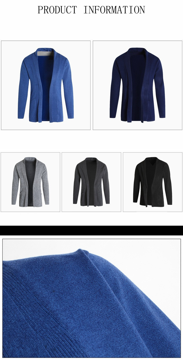 good quality 2019 Brand New Men's Sweater Cardigan Long-sleeved Overcoat For Male Casual Coat Sweater Clothing