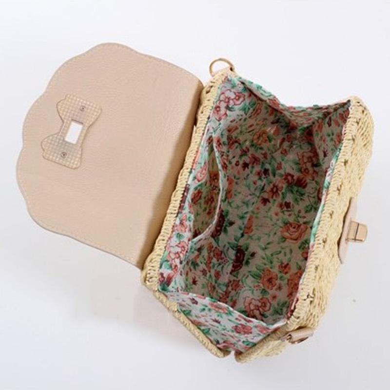 Women Straw Bag Female Bohemian Bali Rattan Beach Shoulder Bag Lady Handmade Candy Color Crossbody Bags Basket Bolsa SS3148 (13)