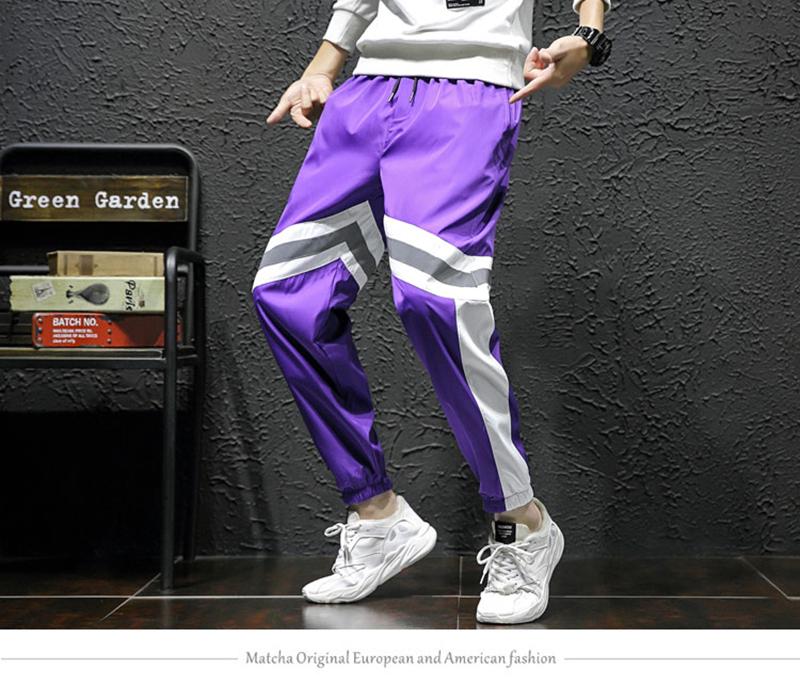 Loose Hip Hop Cargo Pants Men Camouflage Patchwork Harem Mens Trousers Streetwear (4)