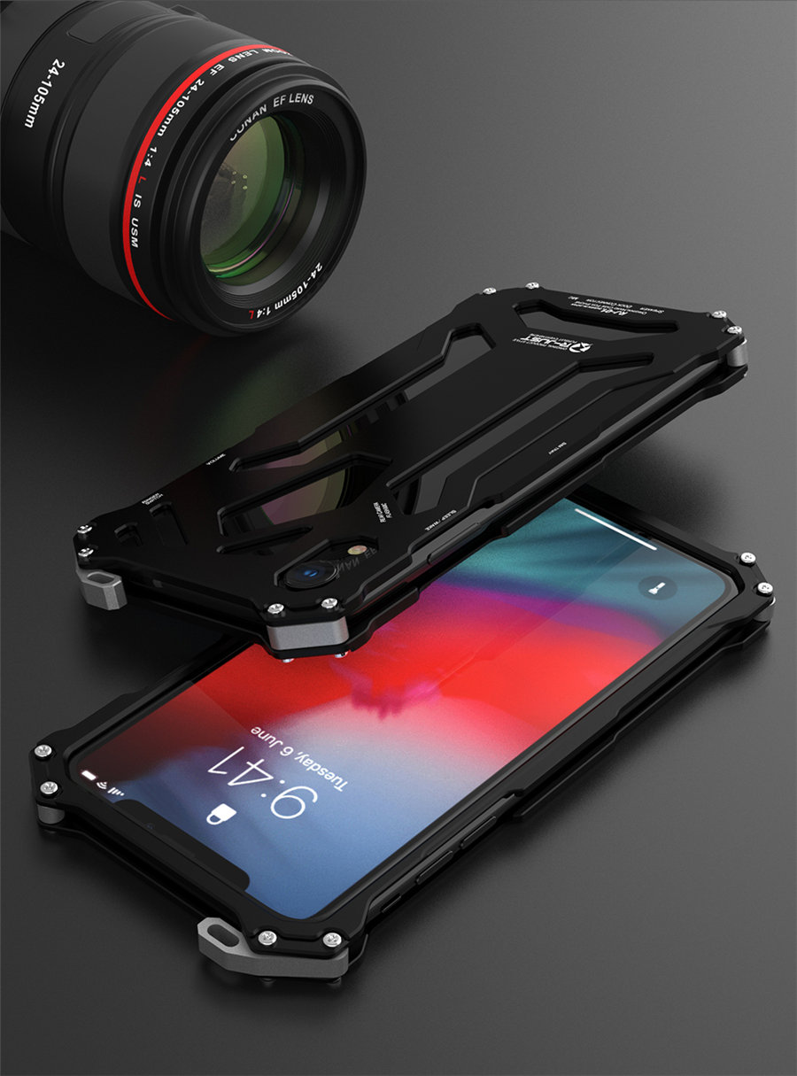 Cool Metal Phone Case For iPhone XS Max Case Cover For iPhone XS R-JUST Gundam Aluminum Case Coque Capa Funda For iPhone XR (13)