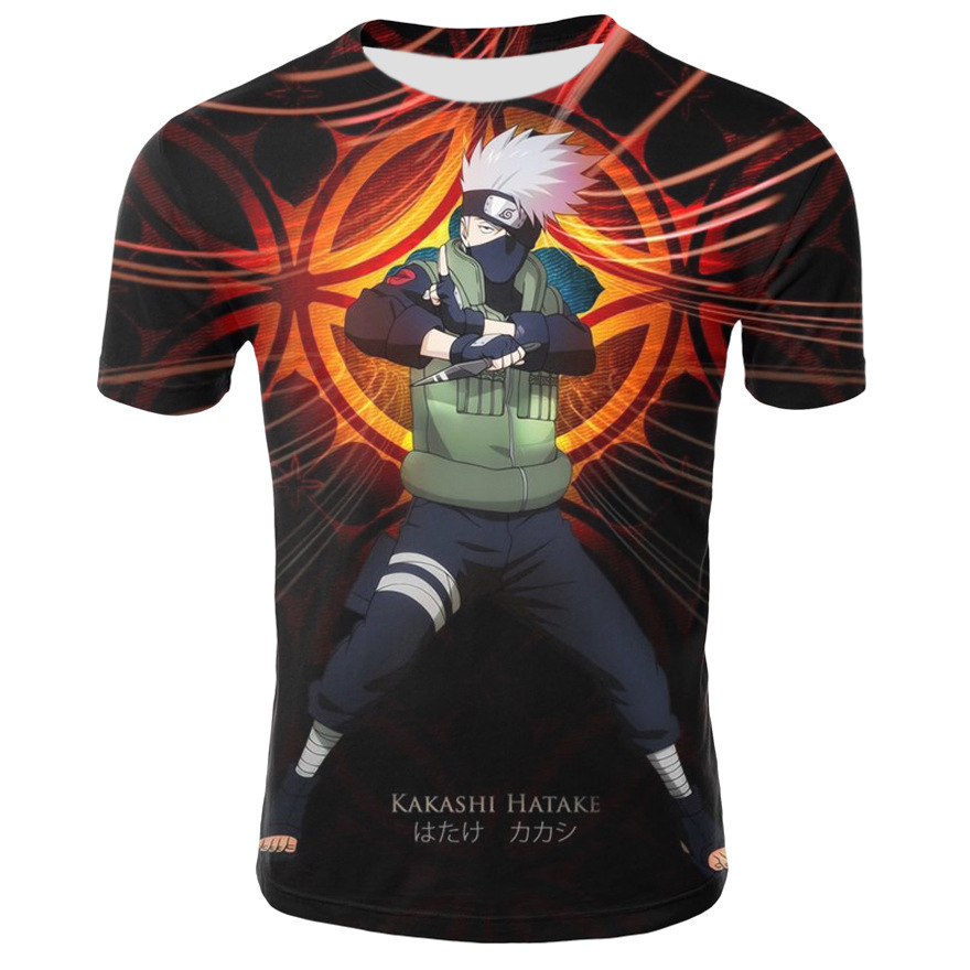 Pop2019 Speed Bribe Summer Product Comic Naruto Short Sleeve Series Pullover T Pity Cool Time Men's Wear