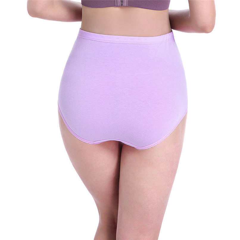 M-XXXL Pregnancy Maternity Clothes Cotton Women Pregnant Smile Printed High Waist Underwear Soft Care Underwear Clothes S14#F (36)