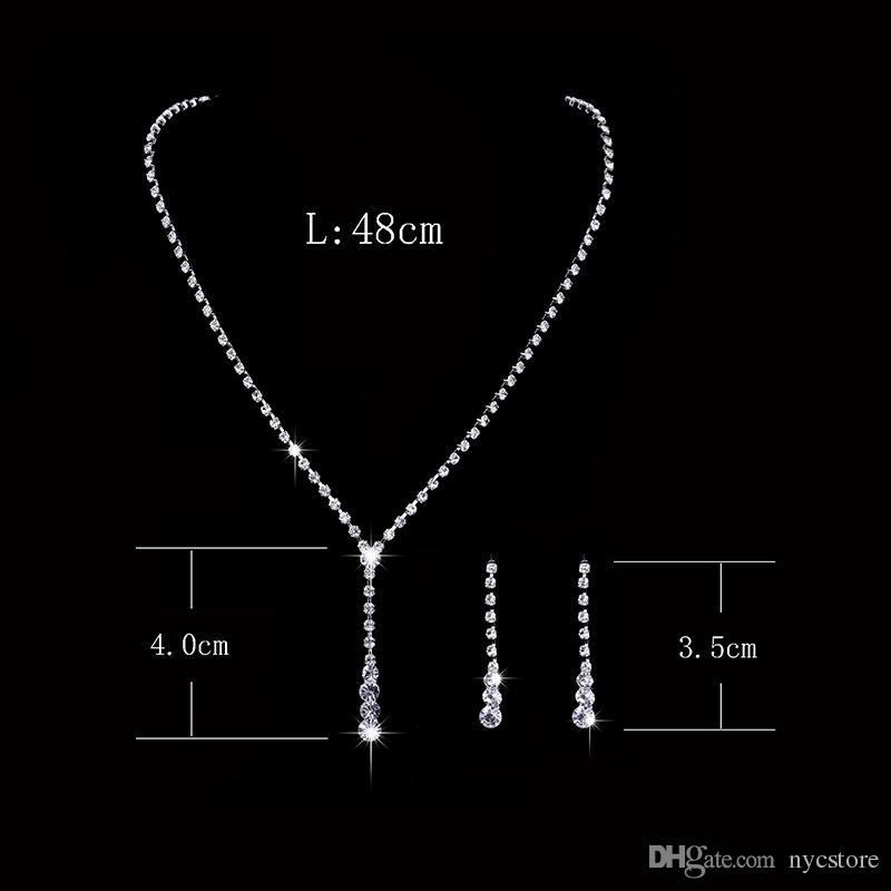 2017 Shining Elegant Wedding Bridal Jewelry Prom Silver plated Rhinestone Crystal Birdal Jewelry New Bling Necklace and Earring Accessories