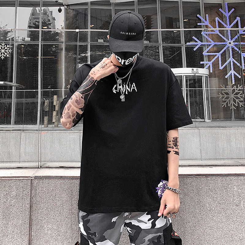 Spring/summer 2019 Trend Chic Lovers Wear Short-sleeved Loose Men Women Cotton Hip-hop Shirts Crane T-shirts C190416