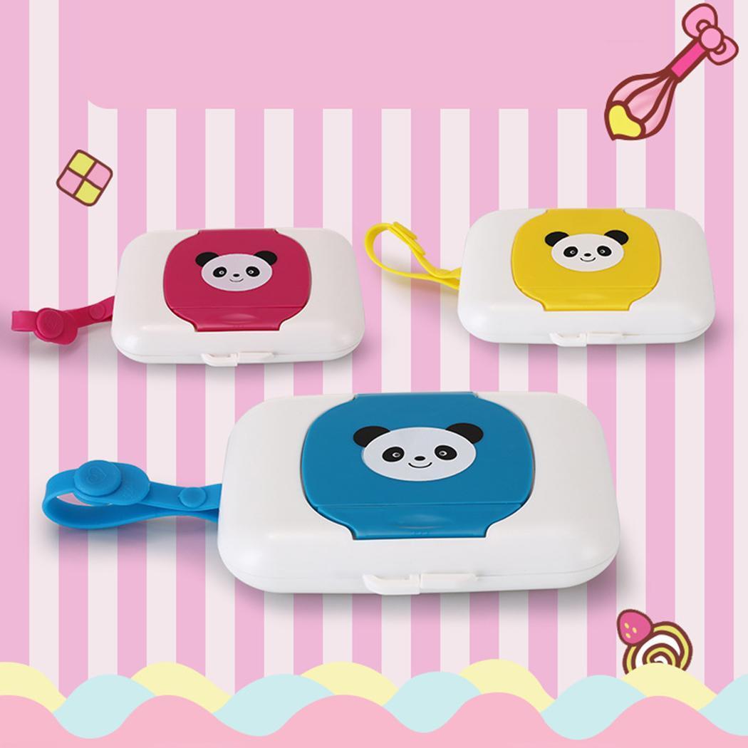 Art- und Weisemini beweglicher netter Karikatur-Quadrat-Form-Feuchttuch-Kasten-Feuchttuch-Kasten Neuer Mini-Feuchttuch-Kasten