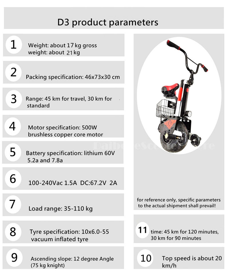 Daibot New Electric Unicycle Scooter 60V Self Balancing Scooters Range 30KM45KM Powerful Electric Scooter For AdultsWomen (15)