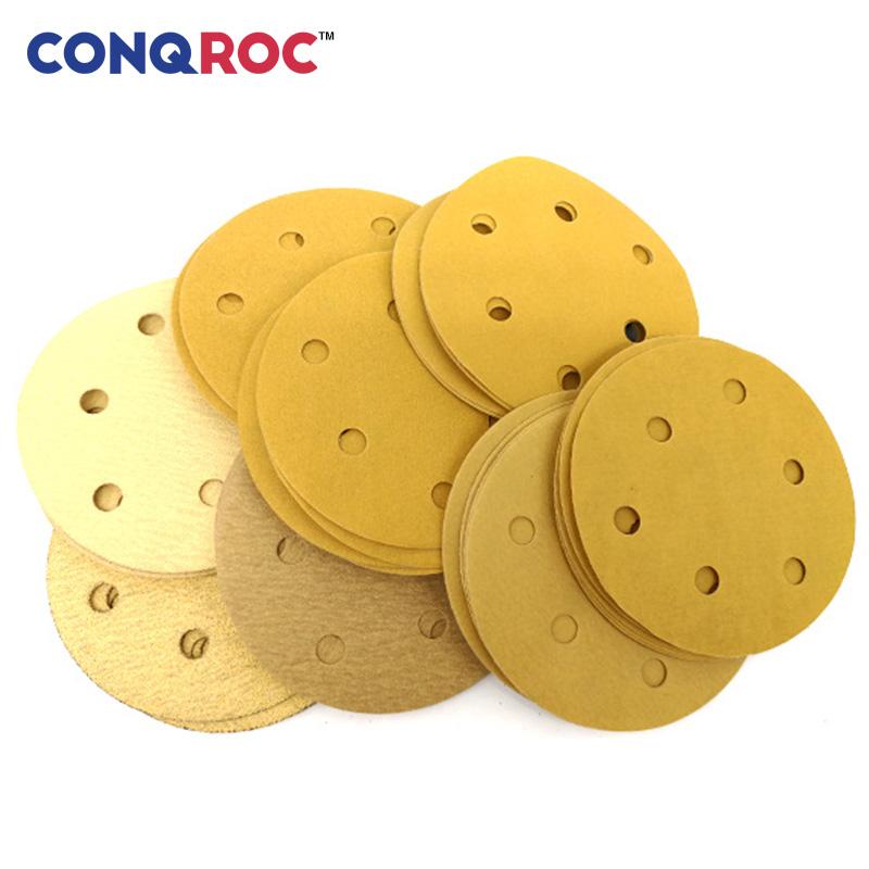 papel de lija de 12,7 cm grano 40-3000 8 agujeros gancho y bucle Discos de lija h/úmedos y secos de 125 mm impermeable