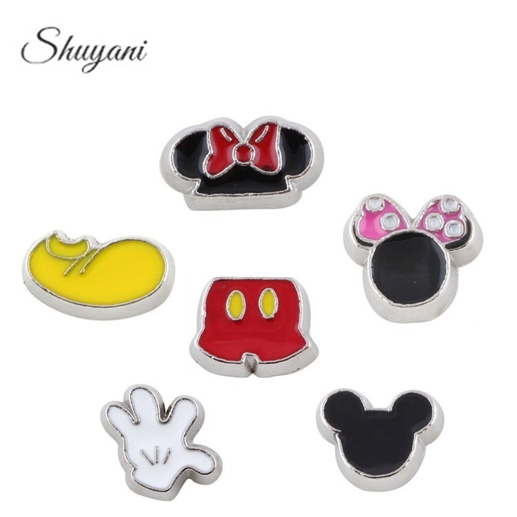 Free-Shipping-Mix-Charms-Lovely-Mickey-Series-Floating-Locket-Charms-Mouse-For-Glass-Living-Memory-Locket