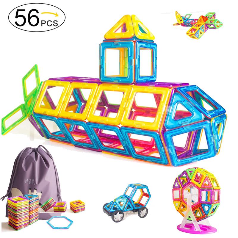 256pcs Magnétique Bloc de construction forme Set Creative /&éducatif pour enfants