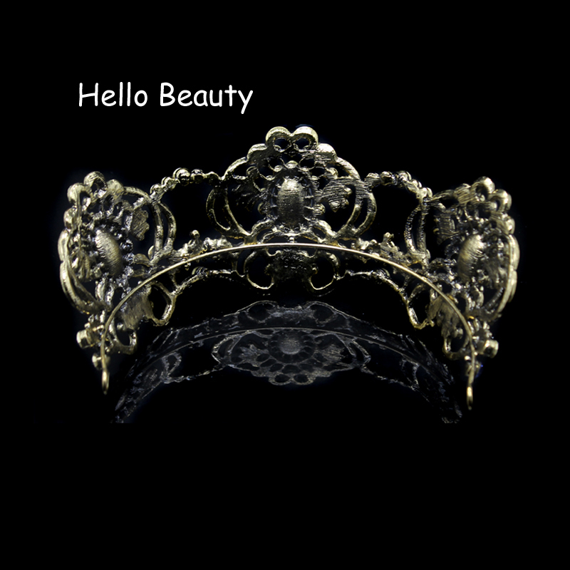 Large Baroque Vintage Purple Crystal Wedding Crown Rhinestone Bridal Queen Tiara For Bride Prom Pageant Party Hair Accessories C18122501