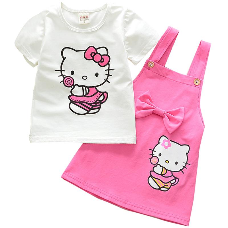 Hello Kitty Maglietta Maniche Corta per Ragazze