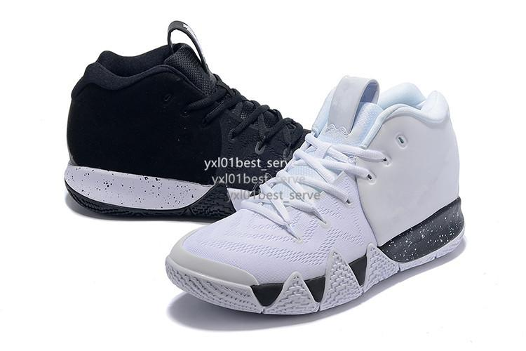 2018 Cheap Sale Kyrie4 IV Irving 4 What the Black White Leopard Grain Basketball Shoes for High quality 4s Sports Shoe Mens Sneakers