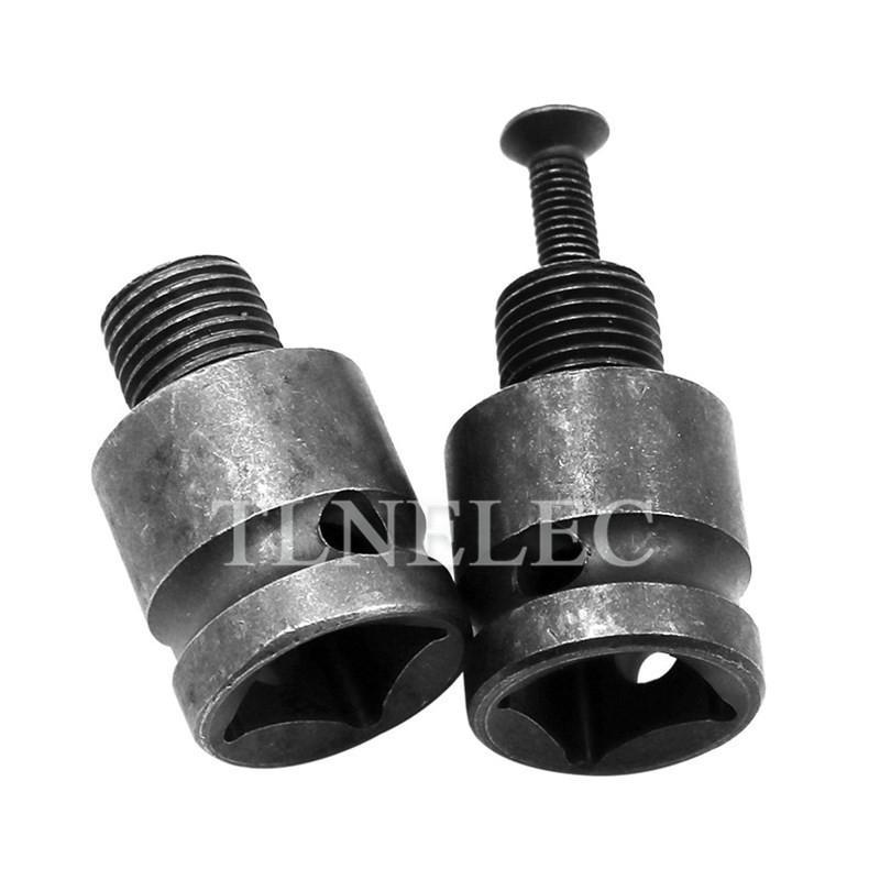 "1//4/""Hex Shank Adapter Male Thread Screw Drill Chuck 6mm,10mm,13mm 3//8/""-24UNF cb"