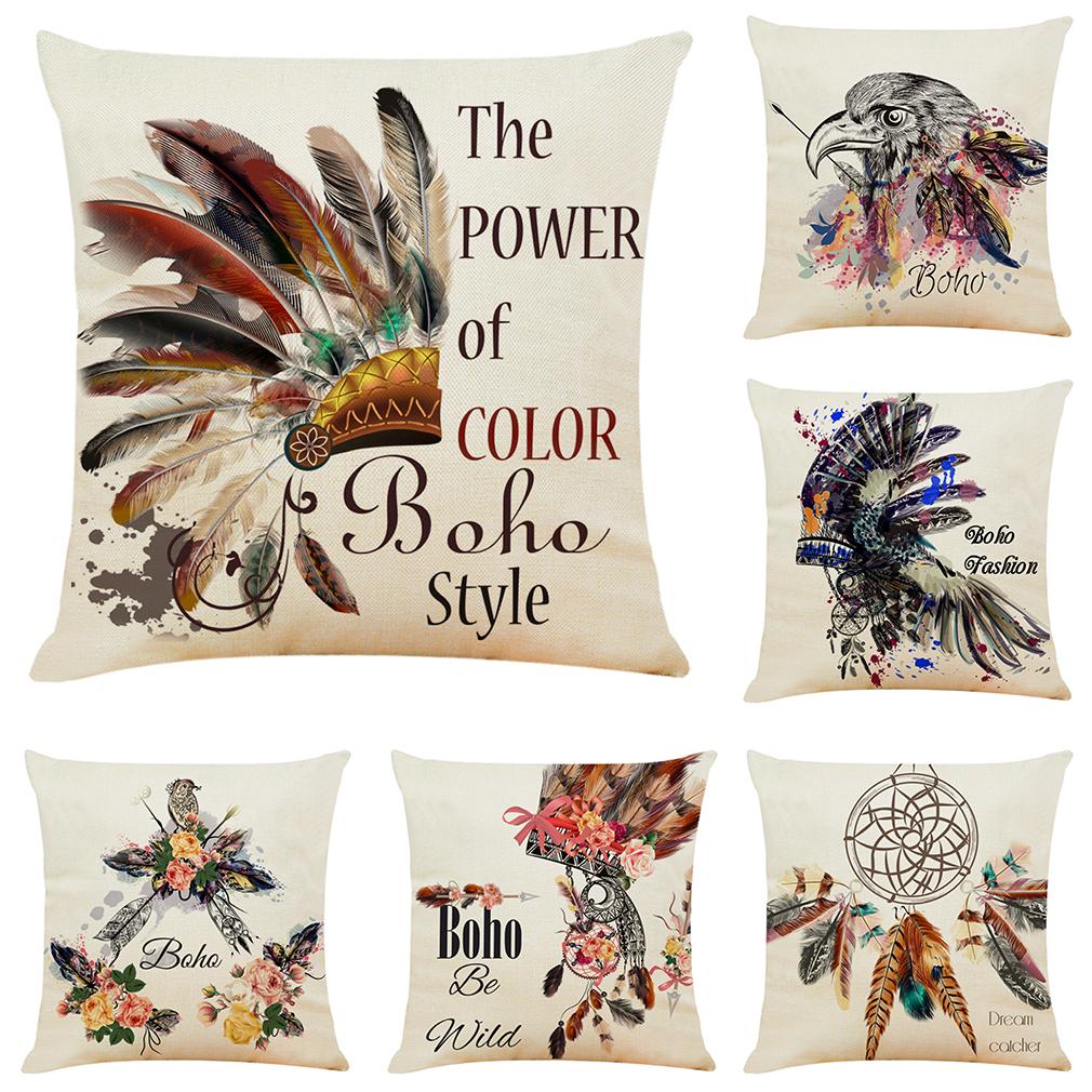 Sofa Cushion Cover European Style Lotus Throw Pillow Case Home 18 x 18 Inch