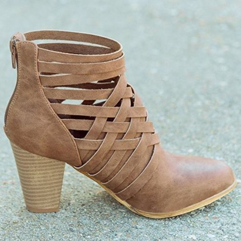 Hot Sale Women Pumps Open Toe Cross-tied Strappy High Heels Shoes Gladiator Summer Bootie Shoes Dorp Shipping