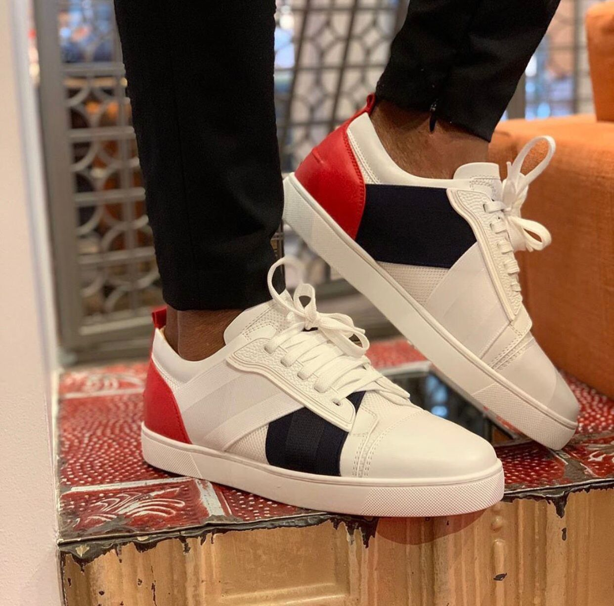 Summer Luxurious Elastikid Spikes Donna Red Bottom Sneakers Flat For Men,Women Casual Popular Best Gift Red Sole Skateboard Walking