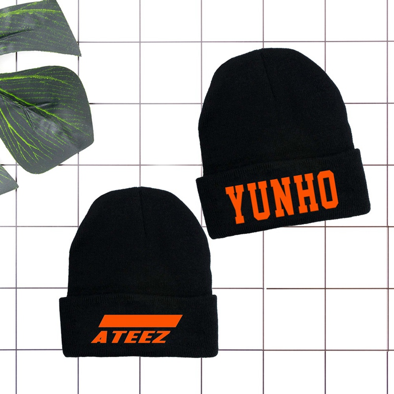 Skull Caps Wolf-Art Winter Warm Knit Hats Stretchy Cuff Beanie Hat Black