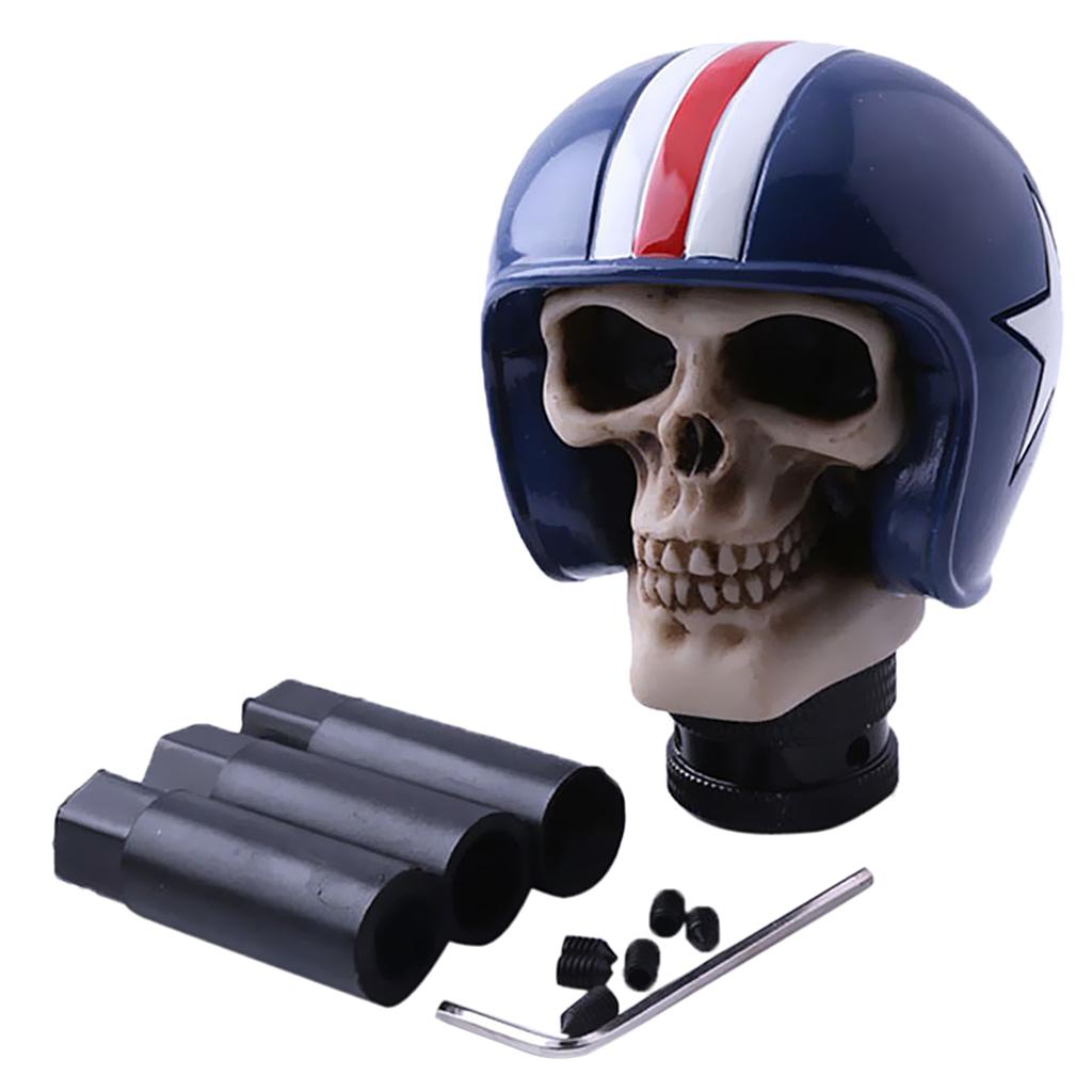 Bashineng Skull Gear Shifter Knob Devil Head Shape Stick Shift Knobs for Universal Manual Truck SUV Car Silver