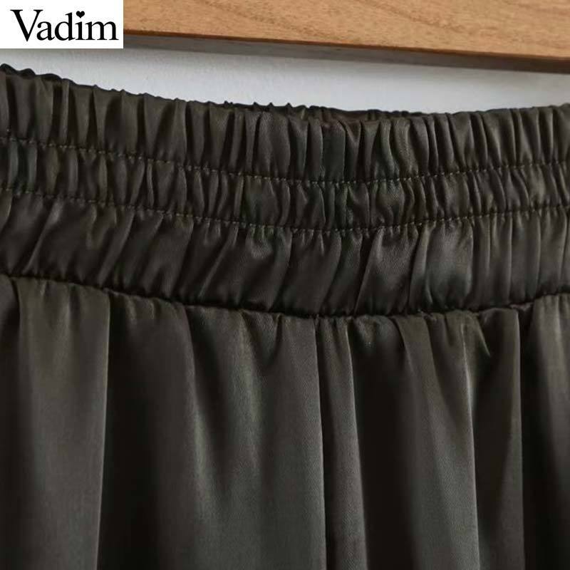 Vadim Women Casual Cargo Pants Tasche Elastico in vita con cerniera lampo Pantaloni alla caviglia Pantaloni vintage Pantalones Ka804 Y19070301