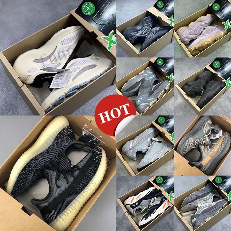 Adidas Yeezy Boost 350 New Kanye West V3 Azaël ALVAH 700 Hôpital statique Aimant coureur d'onde Chaussures de course 500 noire os Oreo Asriel Sport
