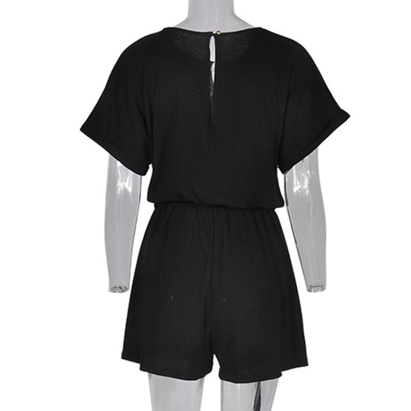 Forefair Linen Shorts Jumpsuit Summer Wide Leg (8)