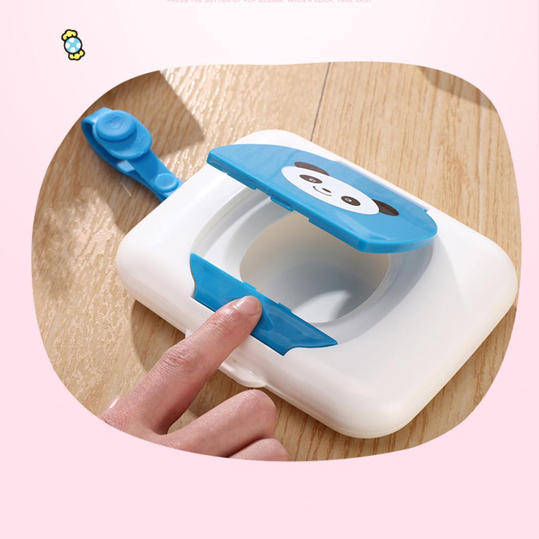 Moda Mini Taşınabilir Sevimli Karikatür Kare Şekli Islak Mendil Kutusu Islak Mendil Kutusu Yeni Mini Islak Mendil Kutusu