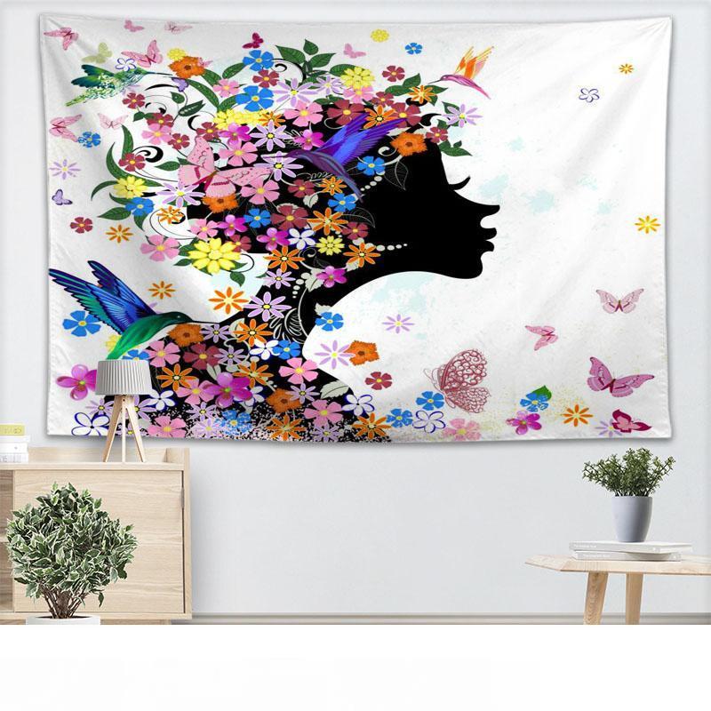 Treer Arazzo Da Parete Grande Fiori 3d Tapestry Wall Hanging Home Decor Fashion Hippie Camera Da Letto Soggiorno Dorm Wall Cloth Picnic Yoga Pad 150x130cm Verde Teachfornigeria Org