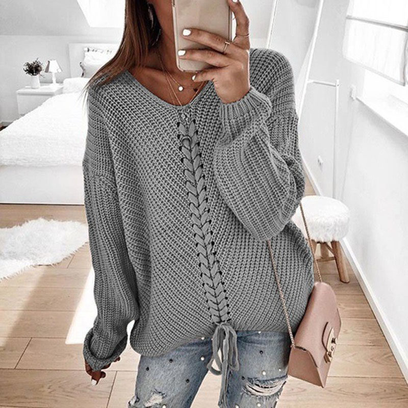 Plus size women pullover sweater spring autumn jumper women tops clothes casual loose fall knitted sweaters ladies 2019 DR897 (1)