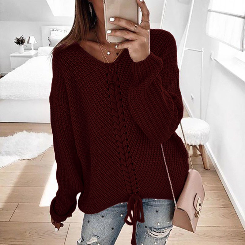 Plus size women pullover sweater spring autumn jumper women tops clothes casual loose fall knitted sweaters ladies 2019 DR897 (6)