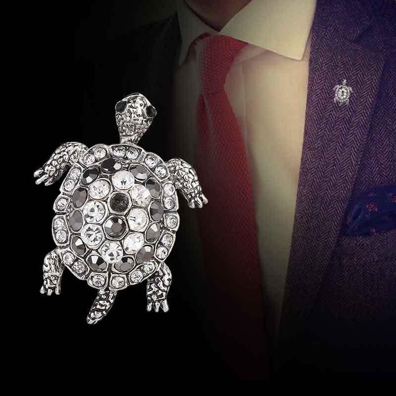 Broche Tortue Mignonne Accessoires de Vetements Broches Alliage en email Cadeaux danniversaire Bijoux