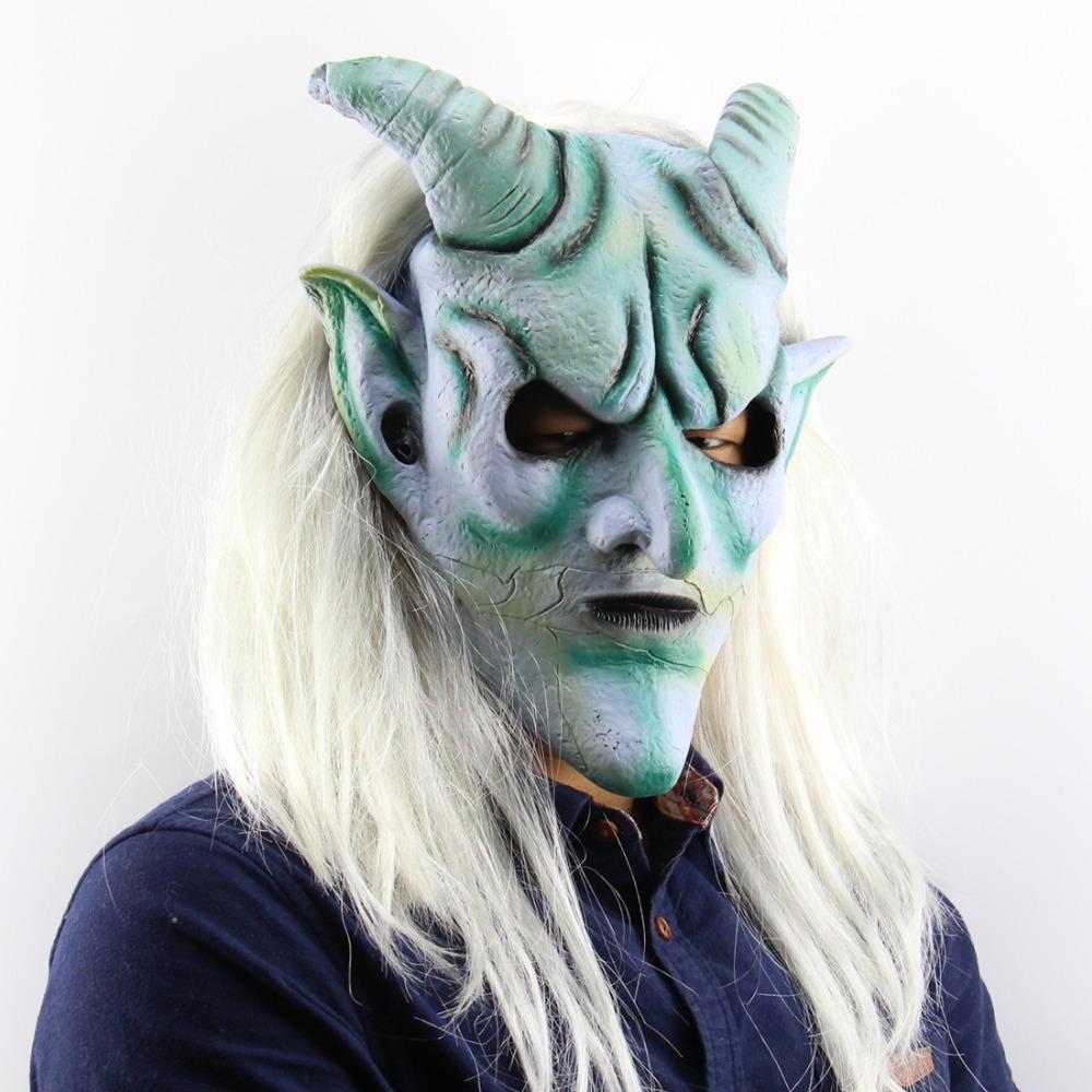 1 Horror Gothic Cosplay Kostüm Kleine Dämon OX Horn Halloween Haar Clip Pin XJ