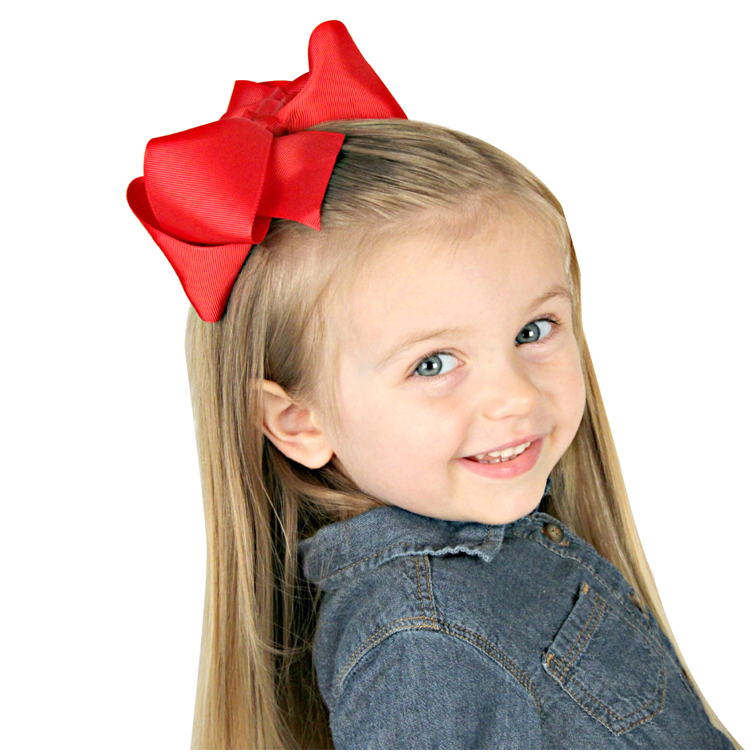 2016-Baby-Big-Ribbon-Bow-With-Hair-Clips-Baby-Girl-Hair-Bows-Boutique-Hair-Bows-For