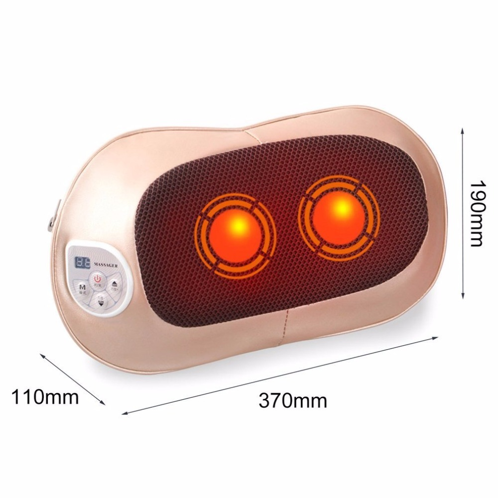 Multifunctional Electric Massage Pillow Neck Shoulder Back Body Spa Massage Comfortable Massage Pillow For Home Office Car