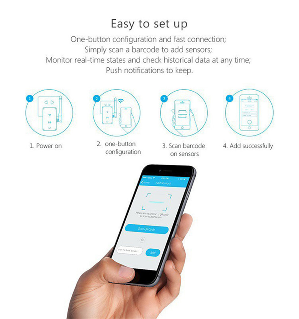 New Broadlink S2-HUB Security Alarm System Kit Detector Motion Sensor Door Window Alarm Remote Control For Smart Home Automation-5