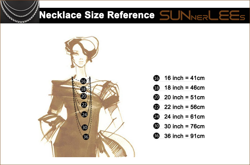 Necklace Size Reference