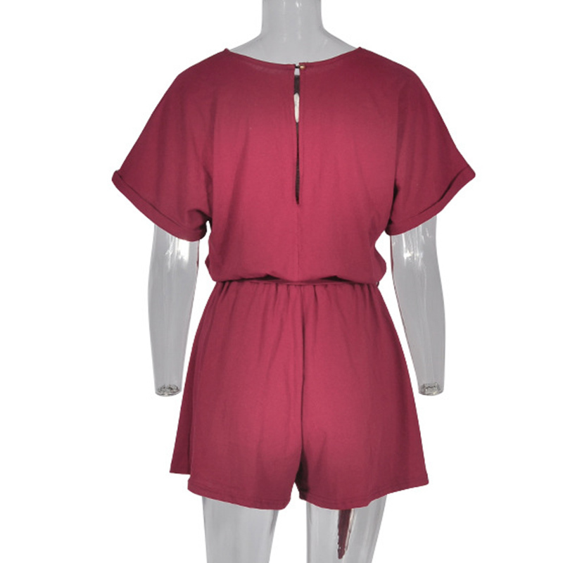 Forefair Linen Shorts Jumpsuit Summer Wide Leg (6)