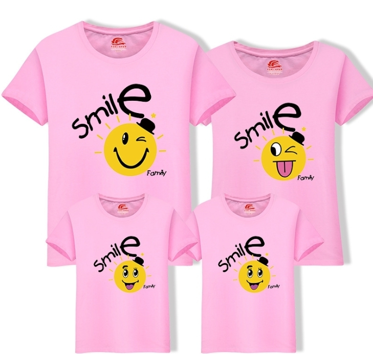 2019 New Cute O-neck T Shirt Family Clothes Family Look Mom Dad Daughter T-shirt One Piece Matching Child Mothers Clothing Fy046