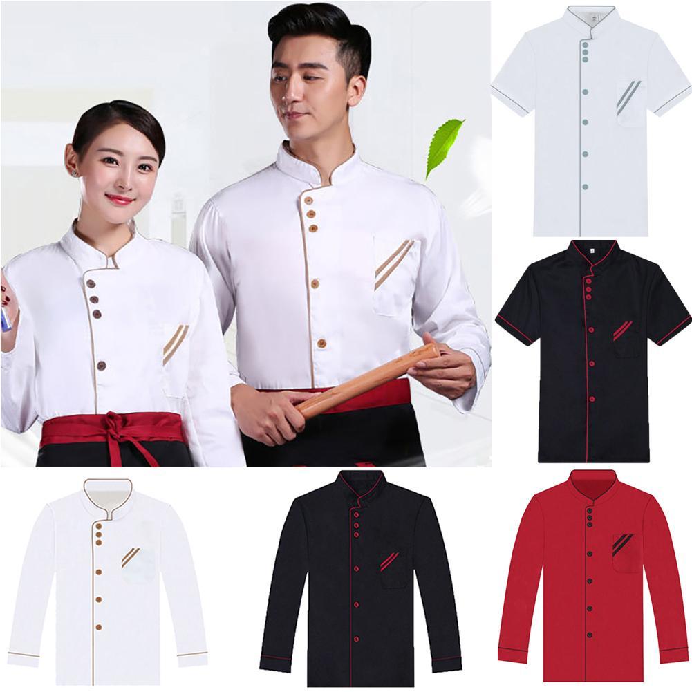 Chef Jacket Custom Logo Cook Coat Kitchen Workwear Cafe Hotel Restaurant Uniform