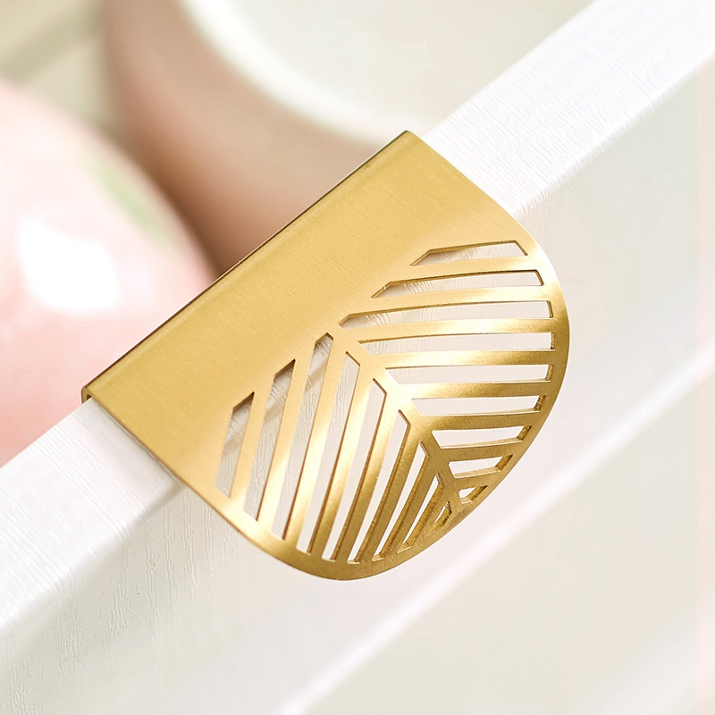 Leaf Shape Brass Door Cabinet Knobs Antique Furniture Handles Drawer Pulls Kitchen Cupboard Gold Knobs and Handles